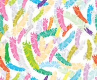 Seamless pattern with colorful feather Royalty Free Stock Photos