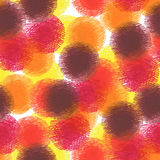 Seamless pattern of colorful felt-tip pen circles. On white background. Hand drawn textured illustration Stock Image