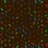 Seamless pattern of colorful figures. Royalty Free Stock Image