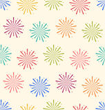 Seamless Pattern Colorful Firework for Holiday Celebration Event Stock Image