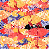 Seamless pattern of colorful fish Royalty Free Stock Image