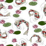 Seamless pattern with colorful fish. Royalty Free Stock Photo