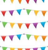 Seamless pattern with colorful flags. Seamless pattern with colorful childish bunting flags Stock Photos