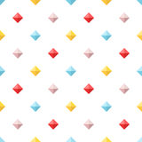Seamless pattern with colorful flat diamonds Stock Image