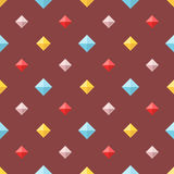 Seamless pattern with colorful flat diamonds Royalty Free Stock Image