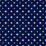 Seamless pattern with colorful flat diamonds Stock Photo