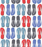 Seamless pattern with colorful flip flops Royalty Free Stock Image