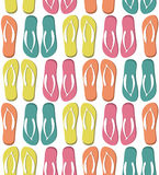 Seamless pattern with colorful flip flops Royalty Free Stock Photography