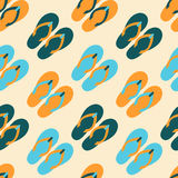 Seamless pattern with colorful flip flops. Vector seamless pattern with colorful flip flops Royalty Free Stock Image