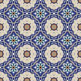 Seamless pattern from colorful floral Moroccan, Portuguese tiles, Azulejo, ornaments. Stock Images