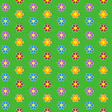 Seamless pattern. Colorful flower background. Stock Photography
