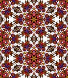 Seamless pattern of colorful flower kaleidoscope. Vector illustration Stock Photography