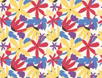 Seamless pattern colorful flower pop art style. Vector design print background fabric illustration graphic wallpaper texture abstract vintage retro fashion vector illustration