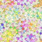 Seamless pattern with colorful Flower. Vector Stock Images