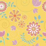 Seamless pattern of colorful flower Stock Photos