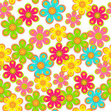 Seamless, pattern  of colorful flower Stock Image
