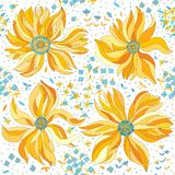 Seamless pattern with colorful flowers Royalty Free Stock Photography