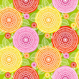 Seamless pattern with colorful flowers. Stock Photography