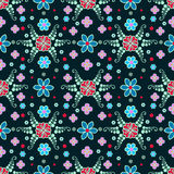 Seamless pattern, colorful, flowers, drawing Royalty Free Stock Photos