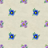 Seamless pattern with colorful flowers Stock Photo