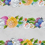 Seamless pattern with colorful flowers Royalty Free Stock Photos