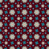 Seamless pattern, colorful, flowers, kaleidoscope Royalty Free Stock Images