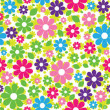 Seamless pattern of colorful flowers Stock Images