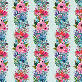 Seamless pattern with colorful flowers Stock Images