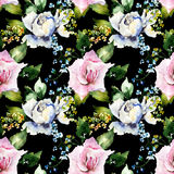 Seamless pattern with colorful flowers Stock Photography