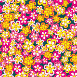 Seamless, pattern  of colorful flowes Stock Photo