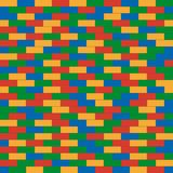 Seamless pattern of colorful folded children`s building blocks. Background. Design for web applications, poster, banner. Vector illustration.r Royalty Free Stock Photos