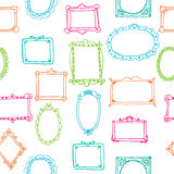 Seamless pattern with colorful frames. Vector illustration Stock Images