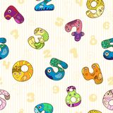 Seamless pattern with colorful funny figures. Stock Images