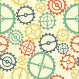 Seamless pattern. colorful gears. Gears colorful. Seamless repeating pattern. Vector Graphics Stock Photography