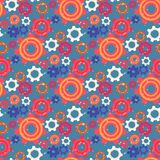 Seamless Pattern with Colorful Gears and Cogwheels stock illustration