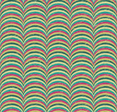 Seamless Pattern with Colorful Geometric Waves Stock Photos