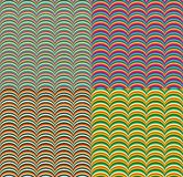 Seamless Pattern with Colorful Geometric Waves Royalty Free Stock Photography