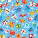 Seamless pattern of colorful gift boxes Stock Image