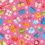 Seamless pattern of colorful gift boxes Stock Photography