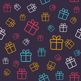 Seamless pattern with colorful gift boxes Stock Photos