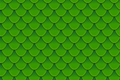Seamless pattern of colorful green fish scales. Fish scales, dragon skin, Japanese carp, dinosaur skin, pimples, reptile Stock Image