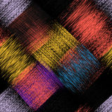 Seamless pattern with colorful grunge striped intersect rectangular elements. For web design Stock Image