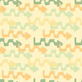 Seamless pattern with colorful grungy arrows. Perfect for print on wrapping paper, fabric etc. Royalty Free Stock Images