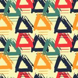 Seamless pattern with colorful grungy arrows. Perfect for print on wrapping paper, fabric etc. Royalty Free Stock Photo