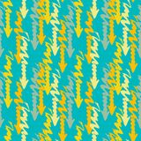 Seamless pattern with colorful grungy arrows. Perfect for print on wrapping paper, fabric etc. Stock Photos