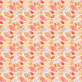 Seamless pattern with colorful hand drawing autumn leaves royalty free stock photography