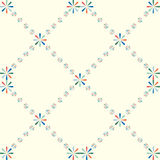 Seamless pattern with colorful heart shapes flower Royalty Free Stock Images