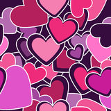 Seamless pattern. Colorful hearts Stock Photos
