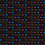 Seamless pattern with colorful hearts Royalty Free Stock Images