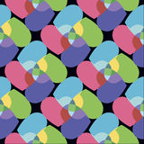 Seamless pattern with colorful hearts. Abstract background. Royalty Free Stock Photo